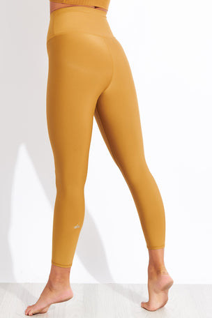 Alo Yoga High Waisted Airlift Capri - Caramel Glossy image 3 - The Sports Edit