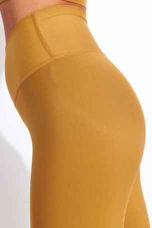 Alo Yoga High Waisted Airlift Capri - Caramel Glossy image 4 - The Sports Edit