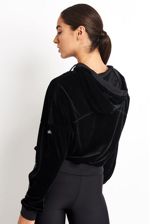 Alo Yoga Layer Long Sleeve Top - Black image 2 - The Sports Edit