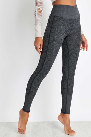 Alo Yoga High Waisted Lounge Legging - Dark Heather Grey image 1 - The Sports Edit