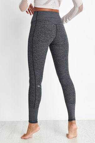 Alo Yoga High Waisted Lounge Legging - Dark Heather Grey image 2 - The Sports Edit