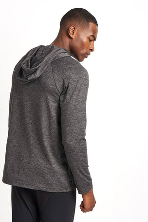 Alo Yoga Conquer Hoodie Graphite image 2 - The Sports Edit