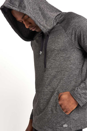 Alo Yoga Conquer Hoodie Graphite image 3 - The Sports Edit