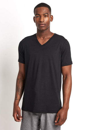 Alo Yoga Easy V Neck Tee Triblend image 1 - The Sports Edit