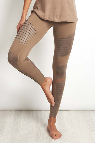 Alo Yoga Moto Legging Gravel image 1 - The Sports Edit