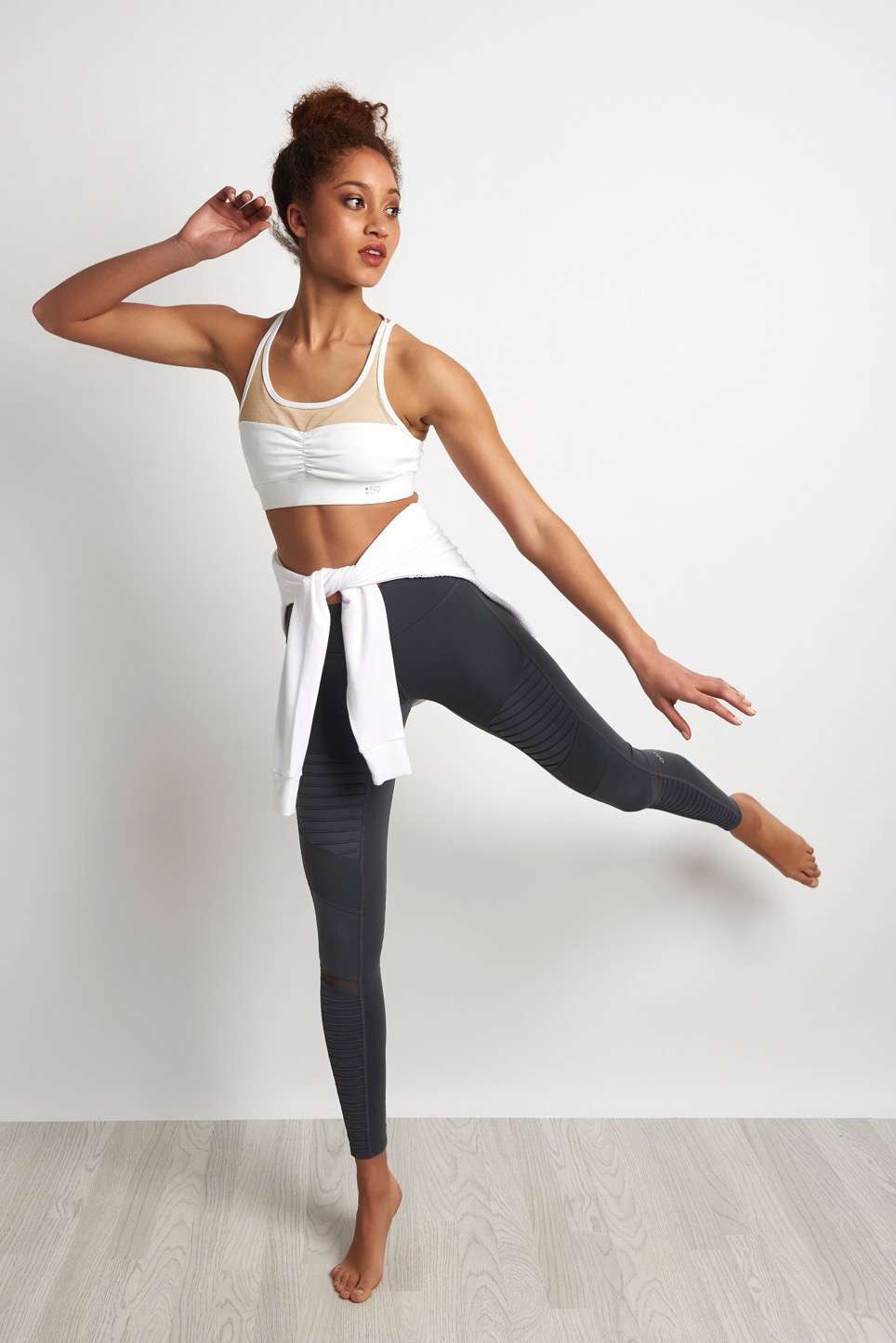 Alo Yoga Moto Legging Slate/Slate Glossy image 2 - The Sports Edit