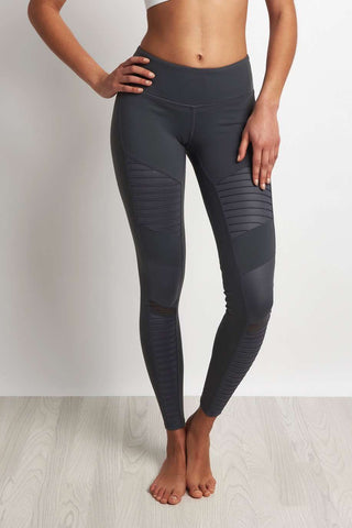 Alo Yoga Moto Legging Slate/Slate Glossy image 1 - The Sports Edit