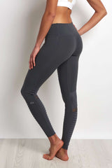 Alo Yoga Moto Legging Slate/Slate Glossy image 3 - The Sports Edit