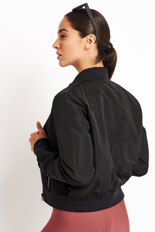 Alo Yoga Off Duty Bomber Jacket 2 - Black image 2 - The Sports Edit