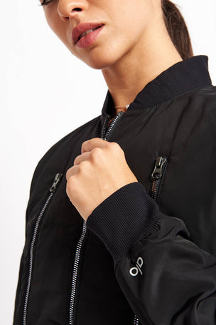 Alo Yoga Off Duty Bomber Jacket 2 - Black image 3 - The Sports Edit