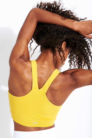 Alo Yoga Real Bra Tank - Sulphur image 3 - The Sports Edit