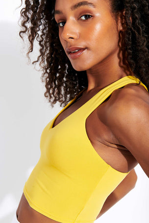 Alo Yoga Real Bra Tank - Sulphur image 4 - The Sports Edit