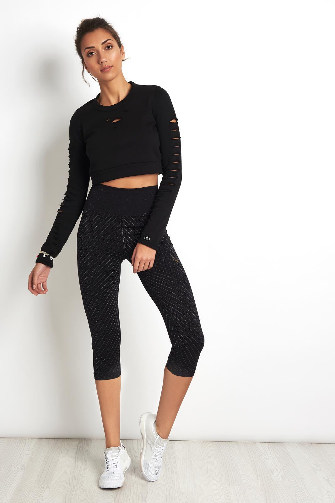 Alo Yoga Ripped Warrior Long Sleeve Black image 4 - The Sports Edit
