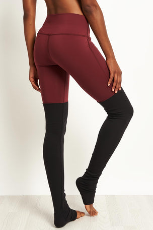 Alo Yoga High Waist Goddess Leggings - Black Cherry/Black image 2 - The Sports Edit