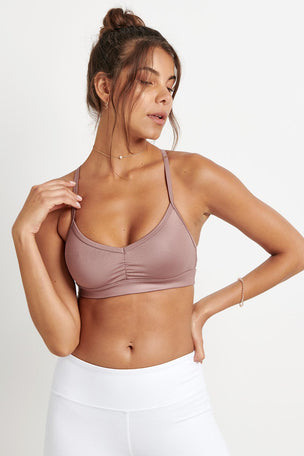 Alo Yoga Sunny Strappy Bra - Smoky Quartz image 1 - The Sports Edit