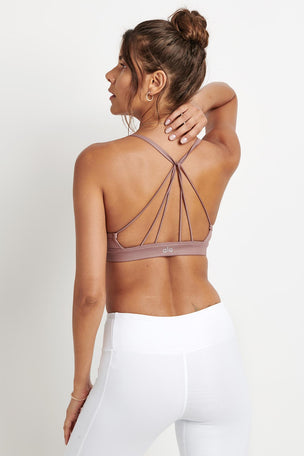 Alo Yoga Sunny Strappy Bra - Smoky Quartz image 2 - The Sports Edit