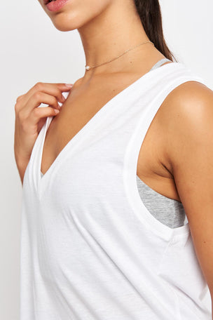 Alo Yoga Vibration Tank - White image 3 - The Sports Edit