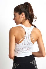 Alo Yoga Vixen Fitted Crop Tank - White image 2 - The Sports Edit