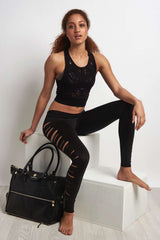 Alo Yoga Vixen Fitted Crop Tank - Black image 2 - The Sports Edit