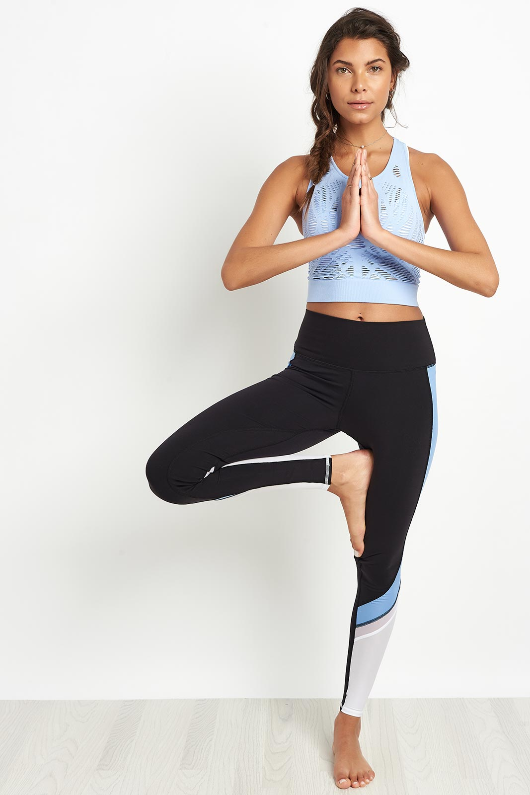 Alo Yoga Vixen Fitted Crop Tank - UV Blue image 4 - The Sports Edit