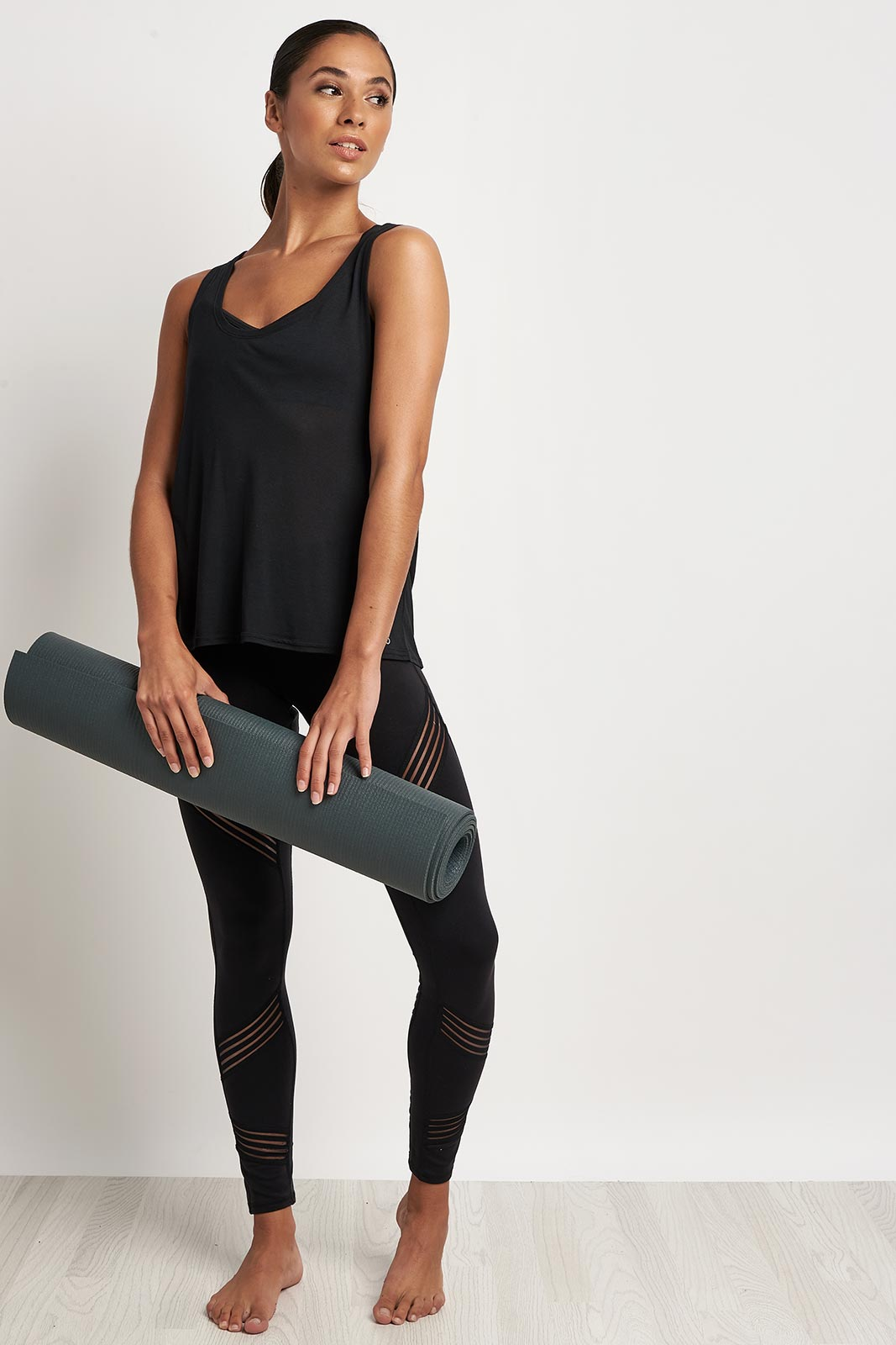 Alo Yoga Acme Tank Black image 4 - The Sports Edit