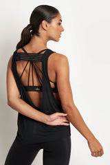 Alo Yoga Acme Tank Black image 2 - The Sports Edit