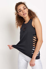 Alo Yoga Cut it Out Long Tank - Anthracite image 5 - The Sports Edit