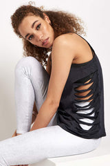 Alo Yoga Cut it Out Long Tank - Anthracite image 3 - The Sports Edit