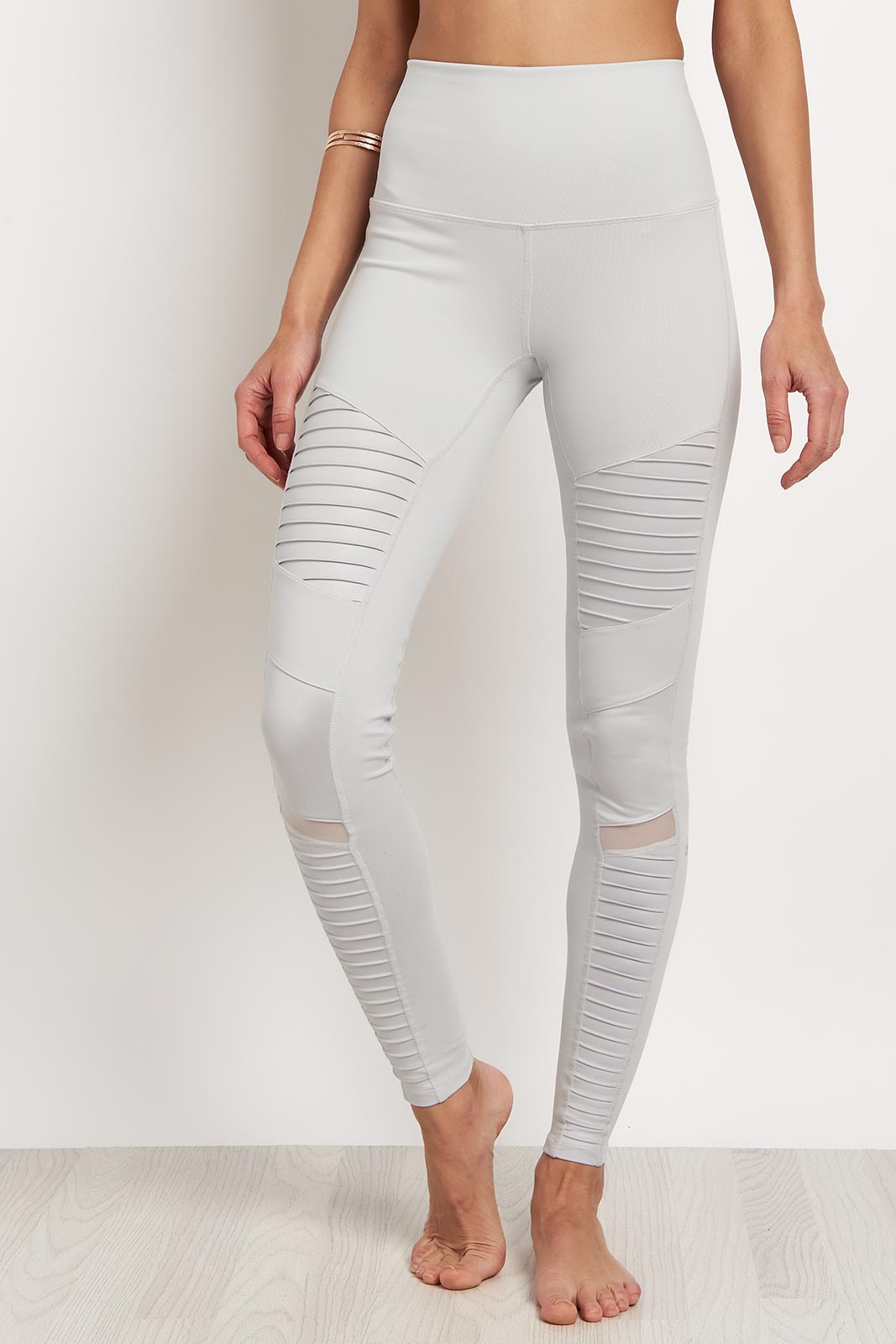 Alo Yoga High Waist Moto Legging -Dove Grey image 1 - The Sports Edit