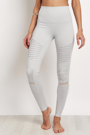 810ab11865ebfe Alo Yoga High Waist Moto Legging -Dove Grey image 1 - The Sports Edit