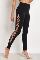 Alo Yoga Interlace Legging - Black image 1 - The Sports Edit