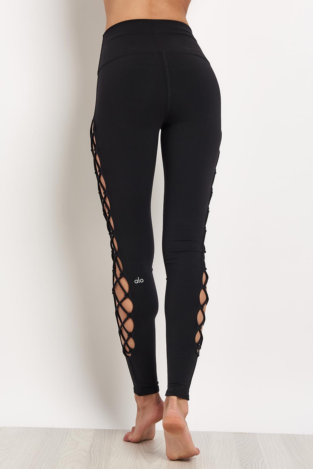 Alo Yoga Interlace Legging - Black image 2 - The Sports Edit