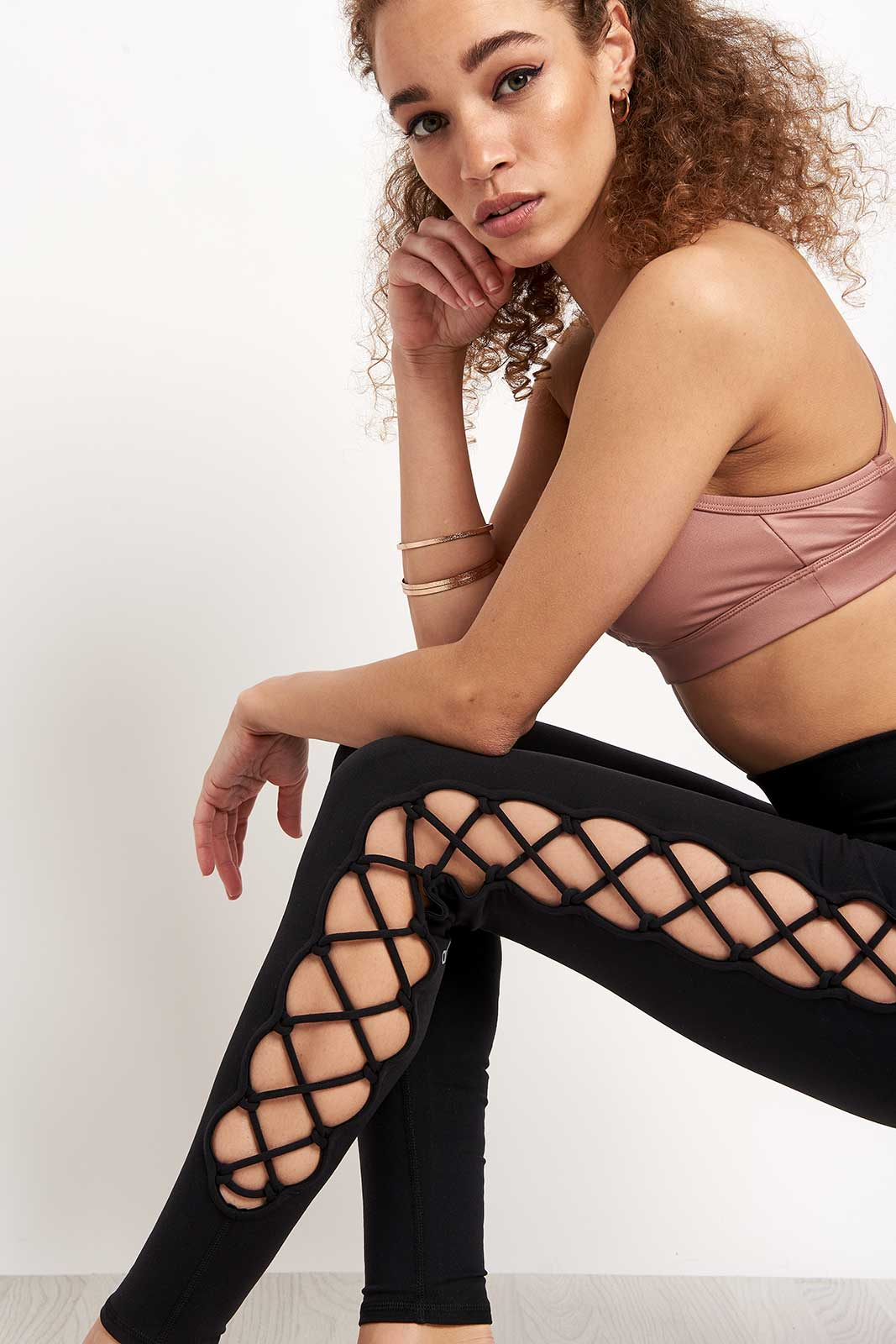 Alo Yoga Interlace Legging - Black image 3 - The Sports Edit