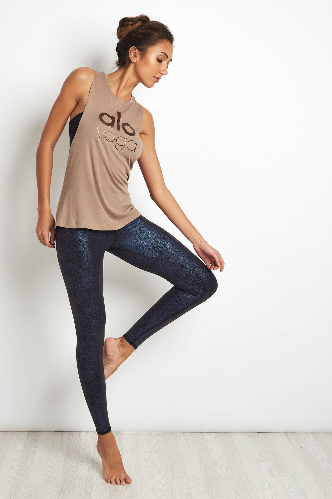Alo Yoga Wanderlust Muscle Tank Gravel image 4 - The Sports Edit