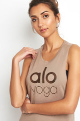 Alo Yoga Wanderlust Muscle Tank Gravel image 3 - The Sports Edit