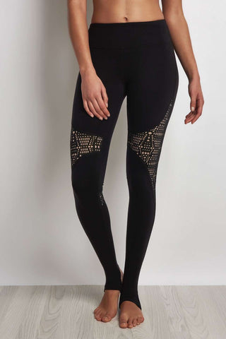Alo Yoga West Coast Legging - Black/Buff image 1 - The Sports Edit