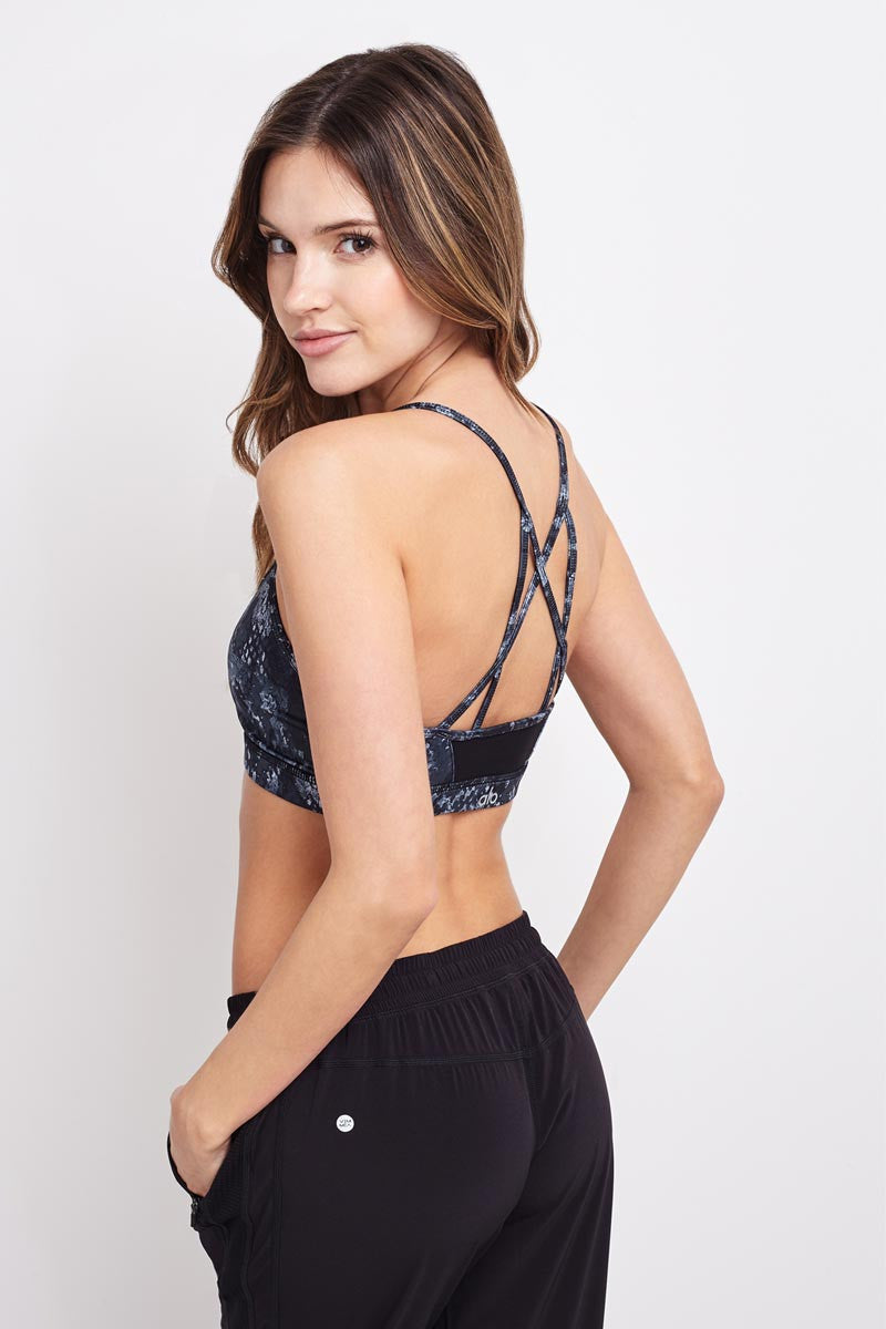 Alo Yoga Goddess Bra-Black Python image 3 - The Sports Edit