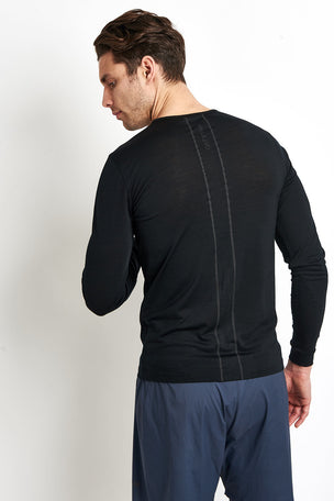 Ashmei Men's Long Sleeve Base Layer Top - Black image 2 - The Sports Edit