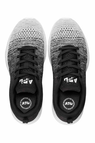 APL Techloom Pro - White Heather Grey Black Melange | Women's image 3 - The Sports Edit