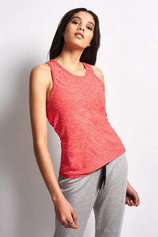 Beyond Yoga Inner Light-Weight Tank - Spacedye Sunset Rose Coral Reef image 2