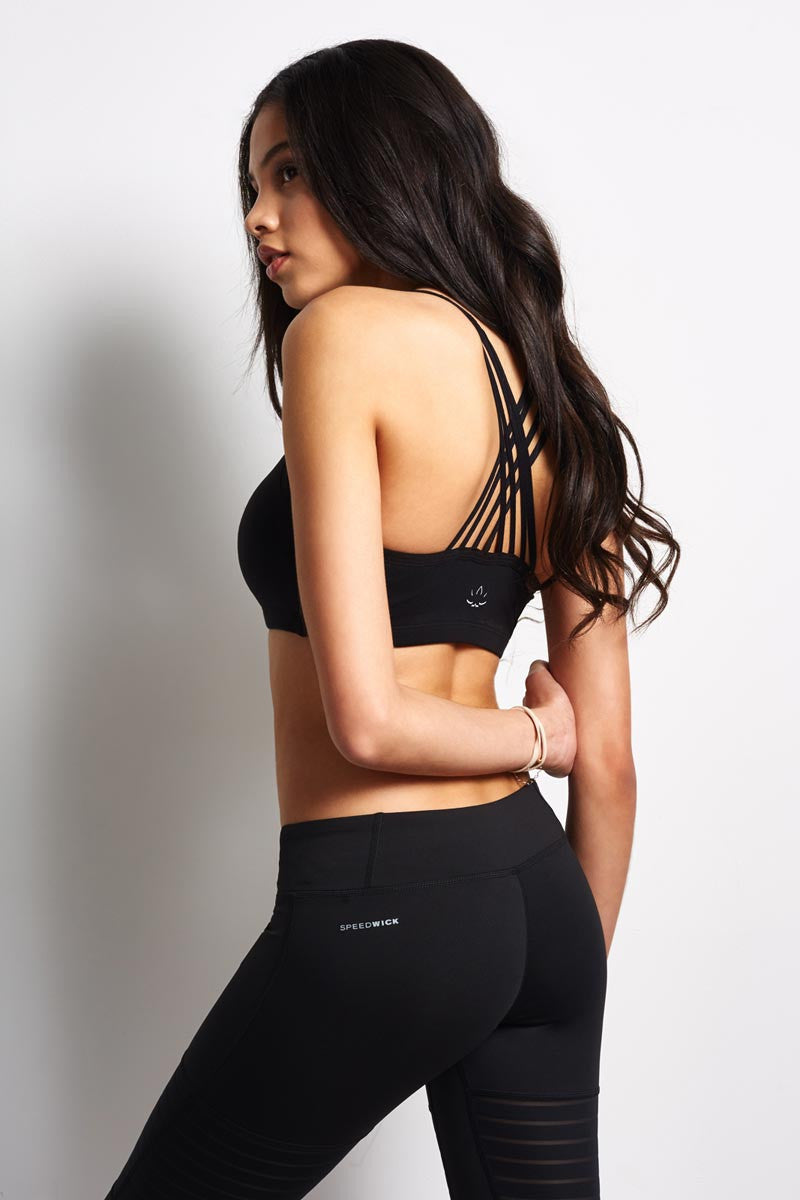 Beyond Yoga Mesh Behaviour Bralet - Black image 1 - The Sports Edit