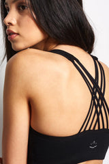 Beyond Yoga Mesh Behaviour Bralet - Black image 3 - The Sports Edit