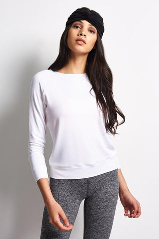 Beyond Yoga Seam You Later Pullover - White image 2