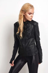 Blanc Noir Ryder Moto Jacket image 1 - The Sports Edit
