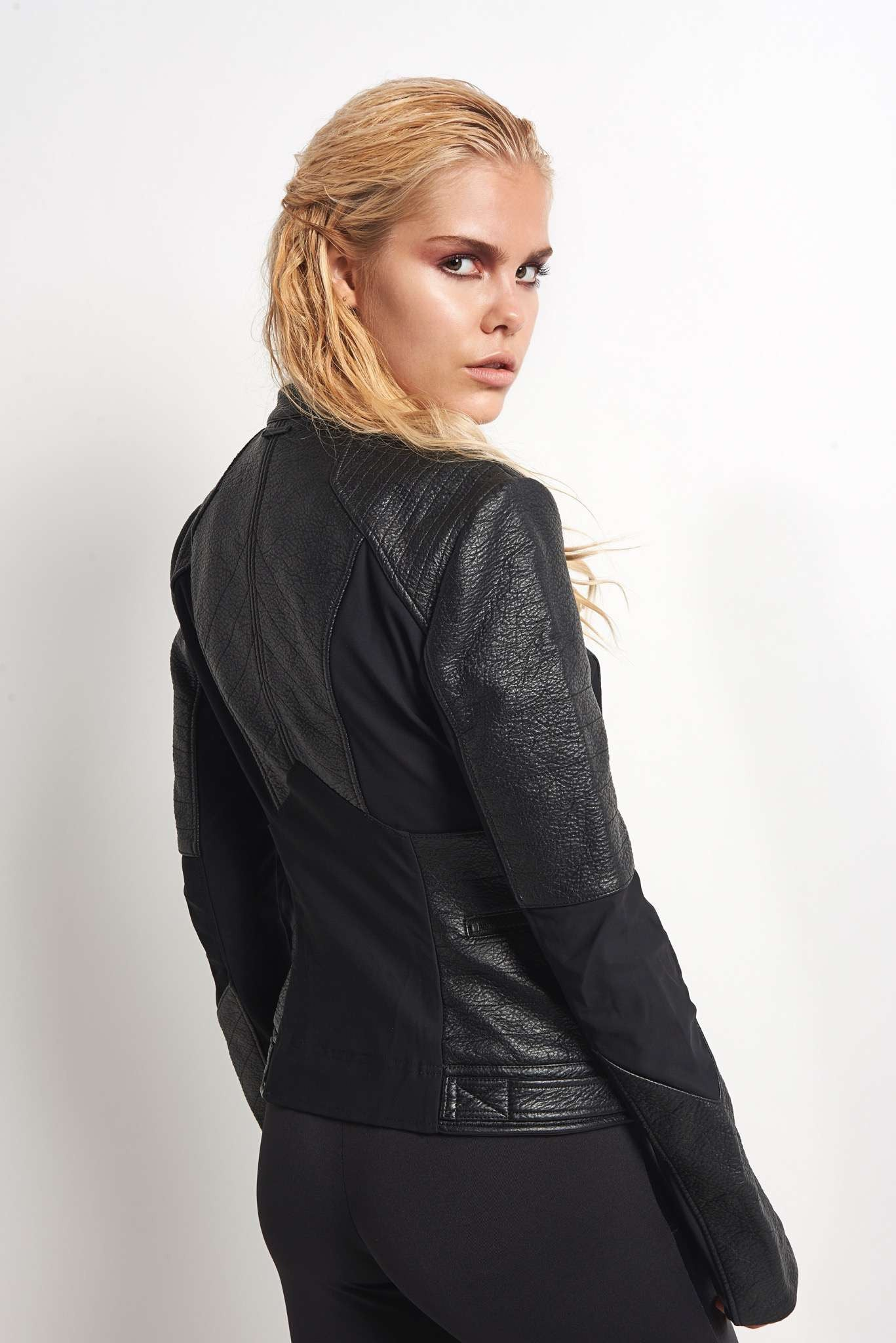 Blanc Noir Ryder Moto Jacket image 2 - The Sports Edit