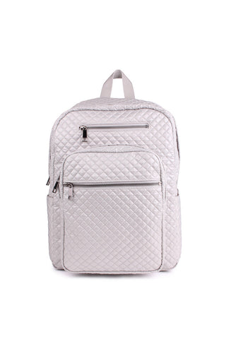Balsa201 Grey Quilted Backpack image 2