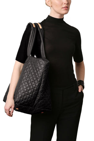 MZ Wallace Medium Metro Tote - Black Oxford image 5 - The Sports Edit