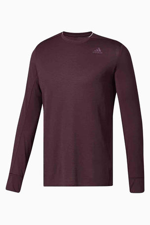 ADIDAS Supernova Long Sleeve Top - Dark Burgundy image 5 - The Sports Edit