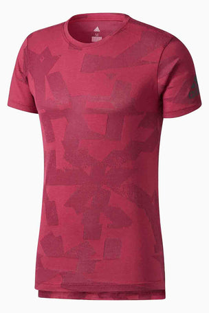 ADIDAS Freelift Elevated Tee Mystery Ruby image 5 - The Sports Edit