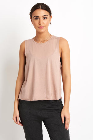 Beyond Yoga All About It Cropped Tank - Brazen Blush image 2 - The Sports Edit